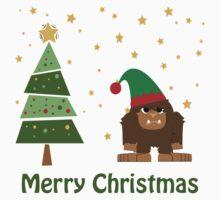 Merry Christmas Bigfoot Kids Clothes