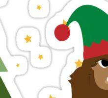 Merry Christmas Bigfoot Sticker