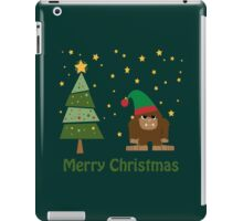 Merry Christmas Bigfoot iPad Case/Skin