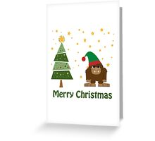 Merry Christmas Bigfoot Greeting Card