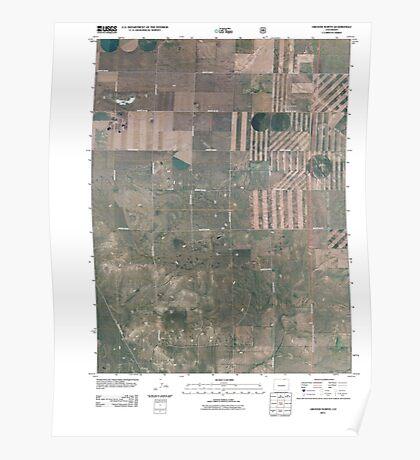 USGS TOPO Map Colorado CO Grover North 20110114 TM Poster