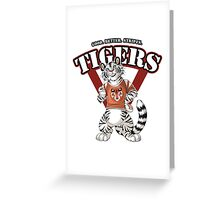 Team WHITE TIGER (red) Greeting Card