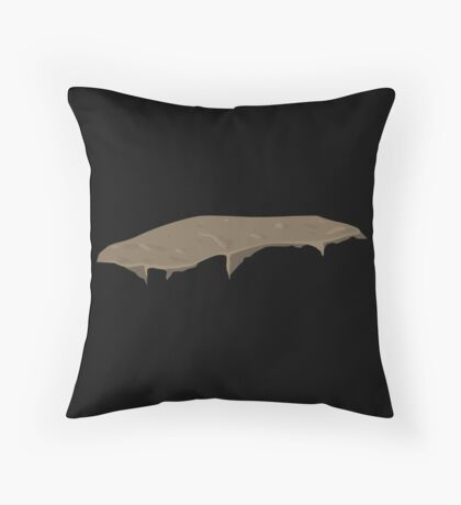 Glitch Groddle Land heights topper 1 Throw Pillow