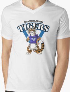 Team TIGER (blue) Mens V-Neck T-Shirt