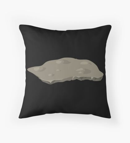 Glitch Groddle Land heights topper stone 1 Throw Pillow