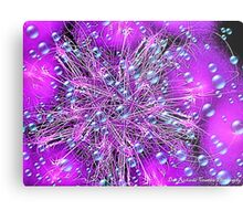 Electronic Fireworks and Bubbles Metal Print