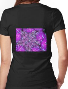 Electronic Fireworks and Bubbles Womens Fitted T-Shirt