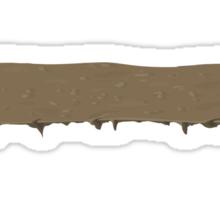 Glitch Groddle Land heights topper wide 1 Sticker