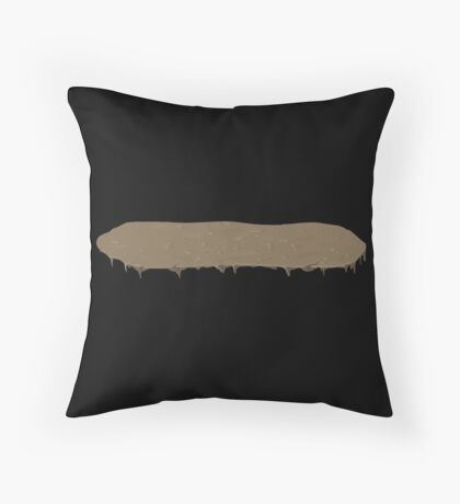 Glitch Groddle Land heights topper wide 1 Throw Pillow