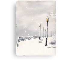 SALTWATER SNOW Canvas Print