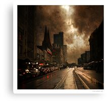 Dirty Old Town Canvas Print