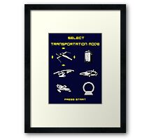 Sci-fi Transportation 2 Framed Print