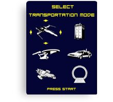 Sci-fi Transportation 2 Canvas Print