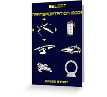 Sci-fi Transportation 2 Greeting Card