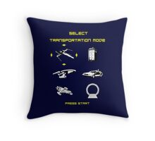 Sci-fi Transportation 2 Throw Pillow