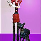 Woman and Dog by Diane  Kramer