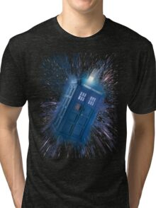 The Doctor's Radiating Tardis Tri-blend T-Shirt