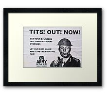 Support the troops!! Framed Print