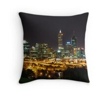 Perth city lights from Kings park Throw Pillow