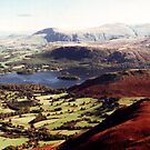 Derwentwater from Causey Pike by Gordon Hewstone