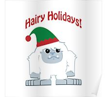 Hairy Holidays! Yeti Poster