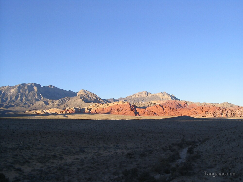 Sunset at Red Rock Canyon, Las Vegas by Tanyamcaleer