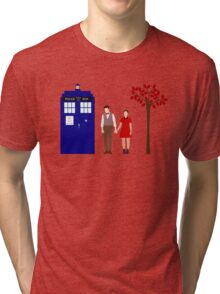 Clara and the 11th Doctor Tri-blend T-Shirt
