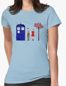 Clara and the 11th Doctor Womens Fitted T-Shirt