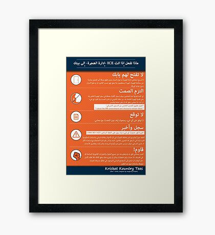 What to do if ICE IMMIGRATION POLICE come knocking Framed Print
