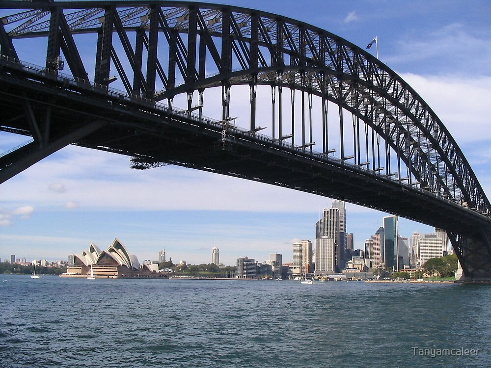 Sydney Royal Opera House & Sydney Harbour Bridge by Tanyamcaleer