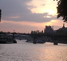 Sunset on the Sienne by clamb34