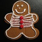 Gingerbread Cookie Christmas Card by Pamela Burger