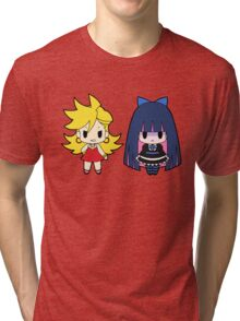 Panty and Stocking Chibis Tri-blend T-Shirt