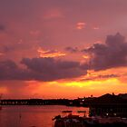 Sunset Over Downtown Disney by BethTryon