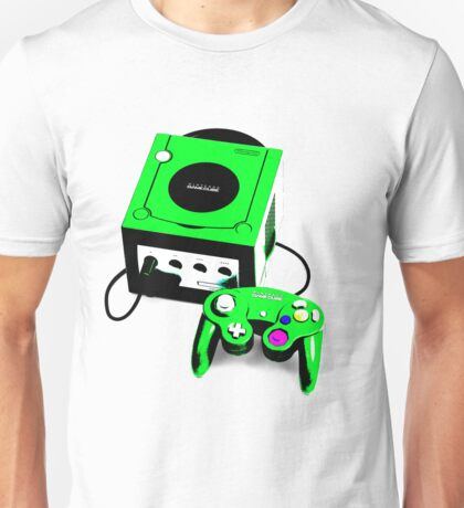 Electric Green Game Cube Unisex T-Shirt