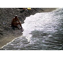 Beach sitter Photographic Print