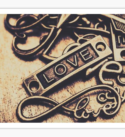 Rustic love icons Sticker