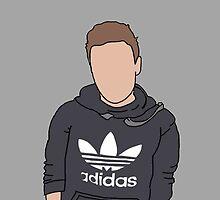 Liam Payne Adidas Cartoon (Grey) by egdesign