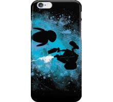 Floating in space - robots in love - Wall.e and Eve iPhone Case/Skin