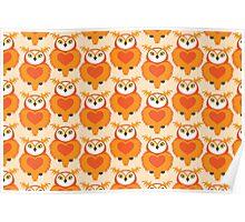OWL Cute Heart keeper  Poster