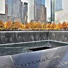 Ground Zero Water Fountain 911 Memorial...NYC by Poete100