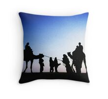 Jaisalmer Camels Throw Pillow