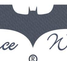 Batman wears chucks. Sticker