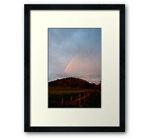 Winery Rainbow Framed Print