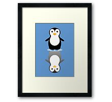 LONELY PENGUIN REFLECTING Framed Print