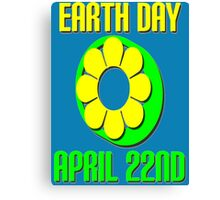 EARTH DAY-GREEN Canvas Print