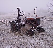 Frozen Tractor by cewoodruff
