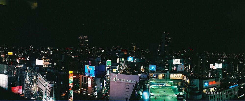 Tokyo hi rise football by Adrian Lander