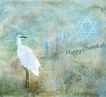 """Seascape """"Happy Chanukah"""" ~ Greeting Card by Susan Werby"""