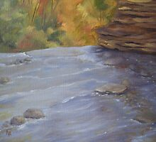 Above Wolf Creek Falls by karen pankow